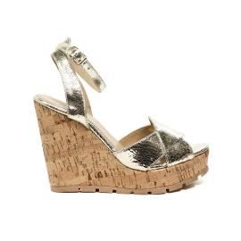 Apepazza sandalo con zeppa alta color oro specchiato articolo FRT47