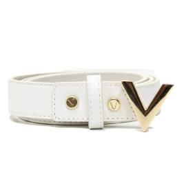 Mario Valentino VCS1GJ56 WHITE ICON white woman belt, buckle V