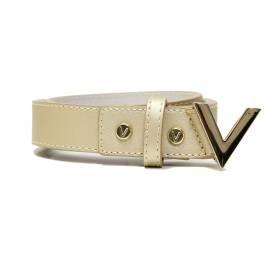Mario Valentino VCS1GJ56 ICON ORO gold woman belt, buckle V