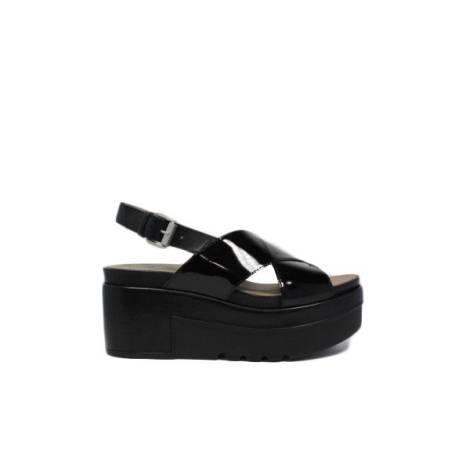 Janet sport sandali zeppa alto con fibbia gladiatore