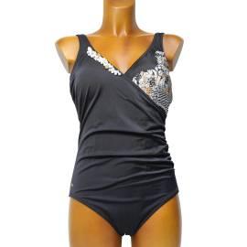 Renata Malè ART.7069 IS costume da bagno donna, pezzo unico, color nero