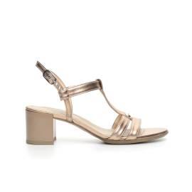 Nero Giardini women sandal with mid heel bronze color article P717610D 434