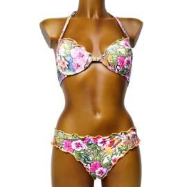 SoloSole ART.7406 BD costume da bagno donna due pezzi, multicolore
