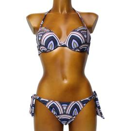 SoloSole ART.7344 BD costume da bagno donna, due pezzi, multicolore