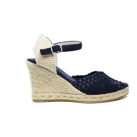 Woz sandalo elastico spuntato con corda 70 articolo UP361 BLU