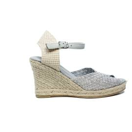 Woz sandalo elastico spuntato con corda 70 articolo UP361 ARGENTO