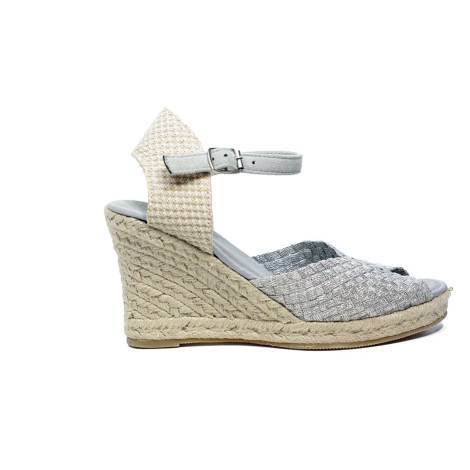 Woz elastic sandal with blunted tip and rope 70 article UP361 SILVER