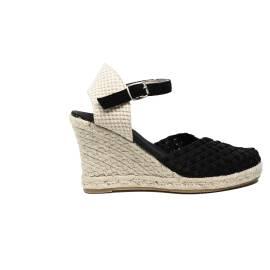 Woz sandalo elastico spuntato con corda 70 articolo UP365 NERO GLITTER