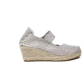 Woz sandalo elastico corda argento articolo UP317 ARGENTO