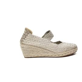 Woz sandalo elastico corda platino articolo UP317 PLATINO