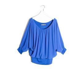 Sandro Ferrone M16 1512 PE17 BLUETTE chemise shirt georgette woman, blue