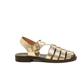 Anna Fidanza sandalo charlie laminato colore platino articolo IR52D 073