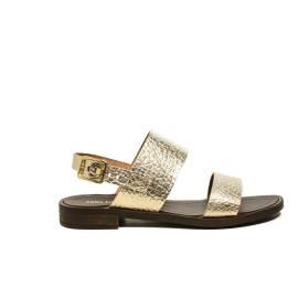 Anna Fidanza sandalo a fasce charlie laminato colore platino articolo IR50D 073