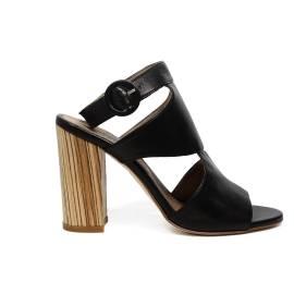 Carmens sandalo donna con tacco alto colore nero articolo 39022 Nero Giove