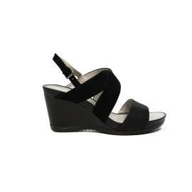 Geox sandalo donna in pelle con fasce colore nero articolo D72P3A 021SK C9999