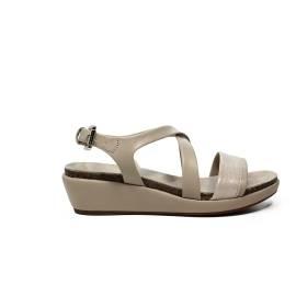Geox sandalo donna in pelle con fasce color champagne articolo D72P6A 0BCSK CH6B5
