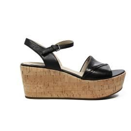 Geox sandalo con zeppa alta colore nero articolo D724VA 000LC C9999