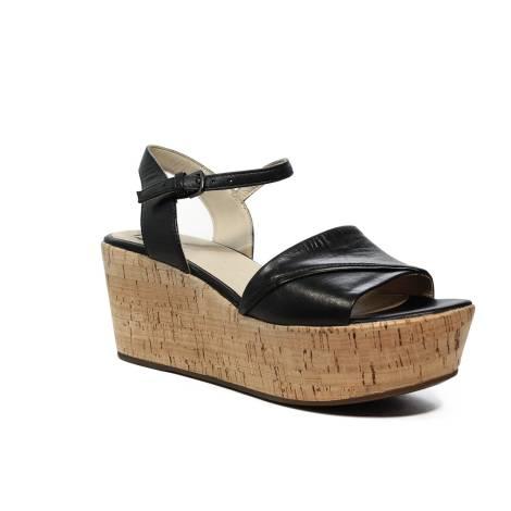 Geox sandalo donna con zeppa alta colore nero articolo