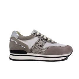 Janet Sport Sneaker Donna Zeppa Interna Art. 35729 Beige
