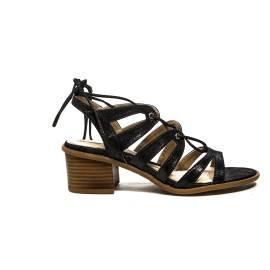 Maria Mare sandalo glitterato con tacco medio alto colore nero articolo 66750