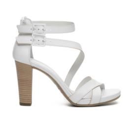 Nero Giardini sandalo donna in pelle con doppia fibbia color bianco articolo P717580D 707