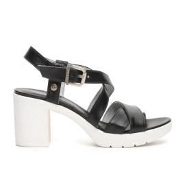 Nero Giardini sandalo donna in pelle color nero articolo P717750D 100