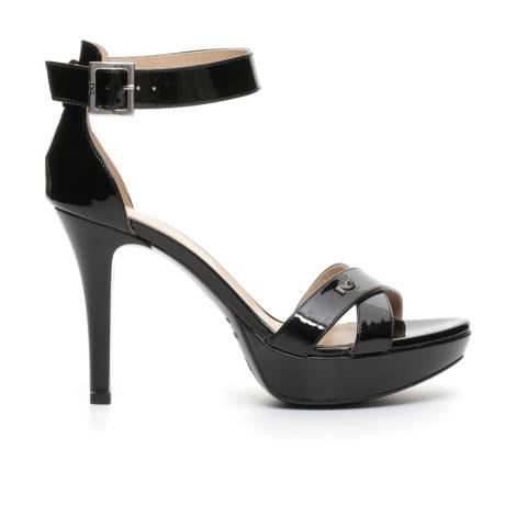 Nero Giardini sandalo alto donna in pelle lucida color nero articolo P717881DE 100