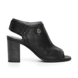 Nero Giardini sandalo donna in pelle traforata color nero articolo P717781D 100