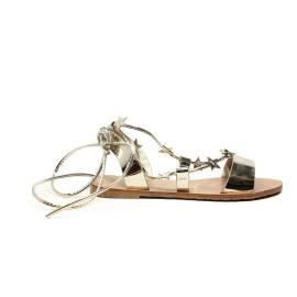 Francesco Milano sandalo gioiello eco specchio platino articolo N13-1P