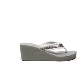 Superga sandalo con zeppa media per il mare articolo S24R515/GRIGIO