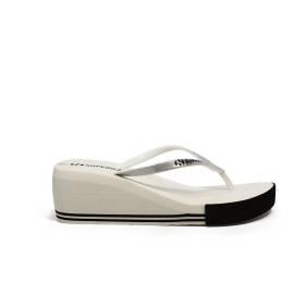 Superga sandalo con zeppa medai il mare articolo S24G035/BIANCO