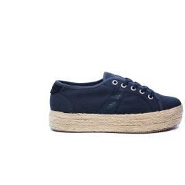 Napapijri sneaker Blu con zeppa in paglia articolo 14738788/N65