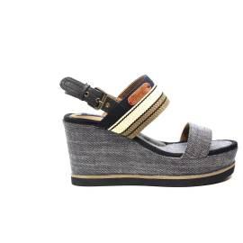 Wrangler sandalo con zeppa alta blu articolo WL171660 W0100