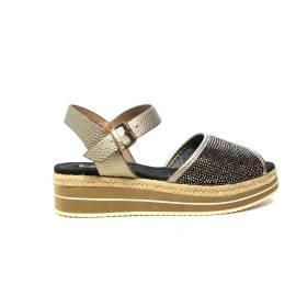 Wrangler sandalo con zeppa media colore bronzo articolo WL171652 W0097