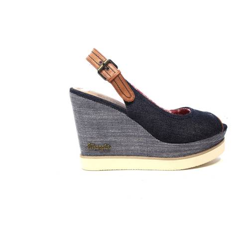 Wrangler Sandal with high wedge blu article WL171660 W0100