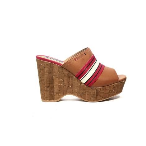 Wrangler sandalo con Tacco alta marrone articolo WL171670 W0028