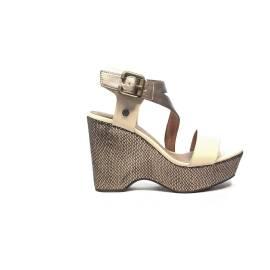 Wrangler sandalo con tacco alto bianco e bronzo articolo WL171722 W0518