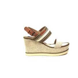 Wrangler sandalo con zeppa alta beige articolo WL171660 W0026