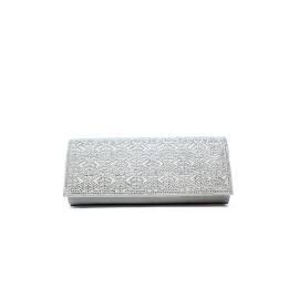 Ikaros pochetta argento micro + strass articolo BB 2709