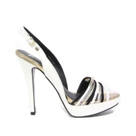 Versace Jeans Sandali Gioiello Donna Tacco Alto EOVLBS42 Bianco