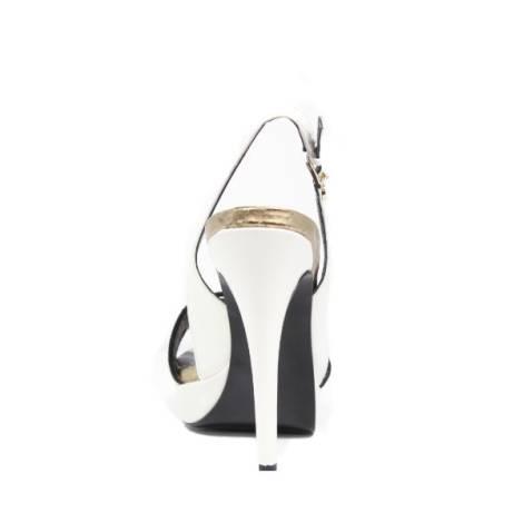 Tacco Versace Sandali Donna Jeans Alto Bianco Gioiello Eovlbs42 F1clKJ