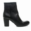 Zoe Italy boot with high heels leather color black color article 201