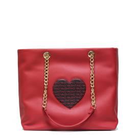 Valentino Handbags VBS1T901 LOVE ROSSO/NERO borsa donna con cuore centrale