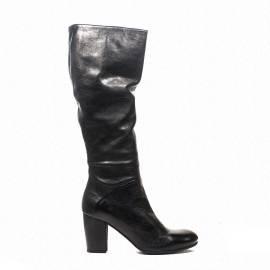 Zoe Italy stivali con tacco alto in pelle colore nero articolo 202