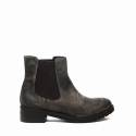 Zoe Italy ankle boot with medium heels deer chamois color article 302