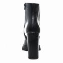 Impicci tronchetto donna tacco alto in pelle colore nero D4016