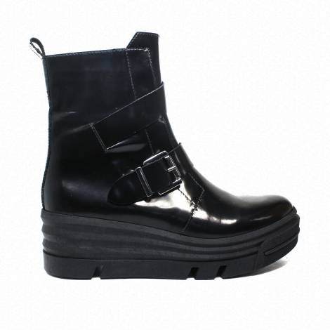 Impicci ankle boots woman high wedge black color LK900