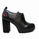 Fornarina wingtip woman with high heel black color article PI18BE1048C000