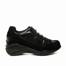 Fornarina sneaker donna con zeppa interna nero colore articolo PI18SE8922V000