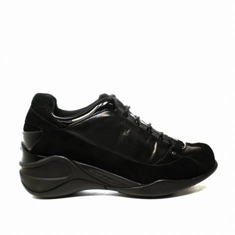Fornarina sneaker donna con zeppa interna e glitter colore Nero articolo PI18SE8922V000
